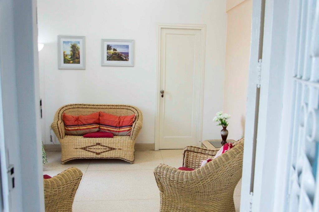 It Has An Exit To The Outside Balcony From Where You Can See The Street And  The Sea. It Is Decorated With Wicker Furniture And A 42 U201cTV.